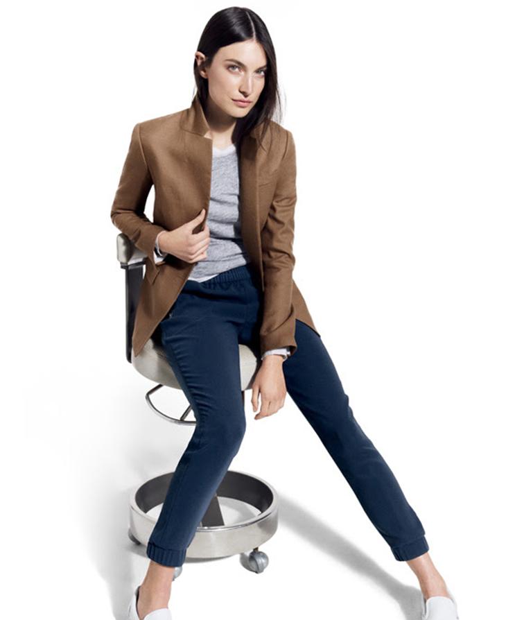 Jacquelyn Jablonski for JCrew Style Guide in the Regent blazer