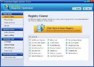 برنامج Wondershare Registry Optimizer لازالة الملفات التالفة