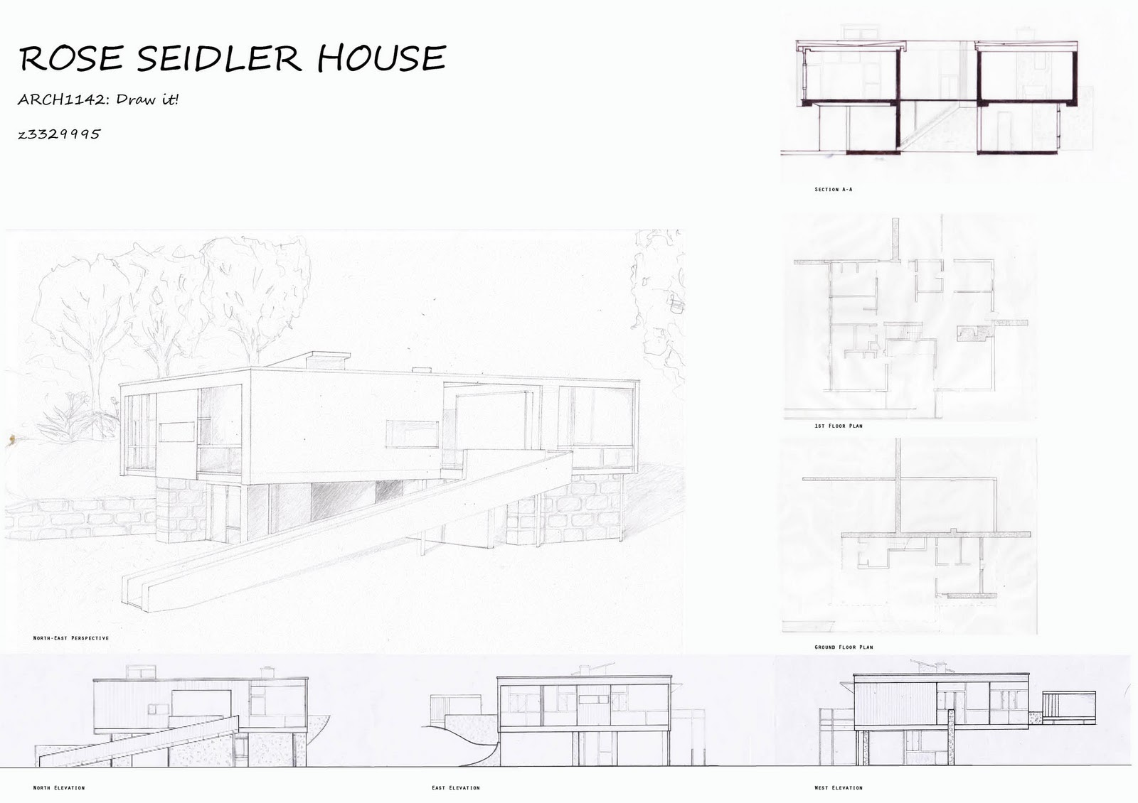 ARCH   Architectural CommunicationsI placed the floor plans next to the corresponding floor in the perspective drawing  making it easier to picture the interior spaces when looking at the d