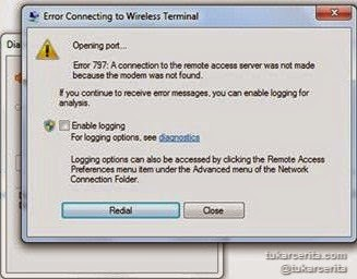 Error Connecting to Wireless Terminal Yahoo Messenger (YM)