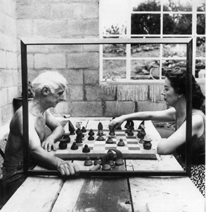 Max Ernst and Dorothea Tanning Playing Chess