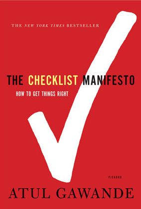 Atul Gawande's Checklist Manifesto Book Image