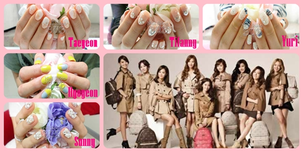 Hallyuism ism kpop stars snsd boa 4minute g love showing their individuality from each other with their selection of nail art here are photos of taeyeon tifanny yuri sunny and hyoyeons nails prinsesfo Image collections