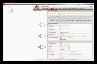 Изменение настроек на вкладке WLAN Huawei HG8245