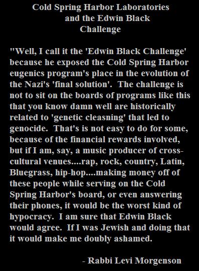 EDWIN BLACK CHALLENGE