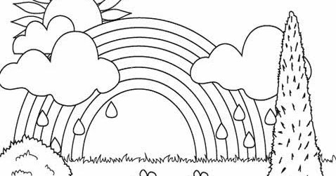 Kids Page Rainbow Coloring Pages