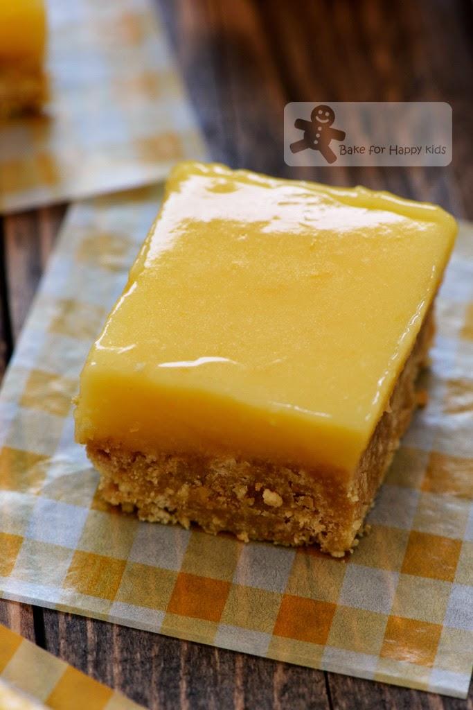 Bake for Happy Kids Easy No Bake Lemon Bars Slices