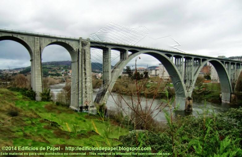 Puente del tren, en Ourense