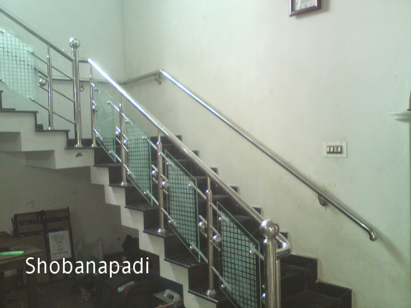 S R Engineering Works Steel Stair With Glass Work