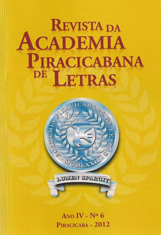Revista da Academia Piracicabana de Letras - vol 6