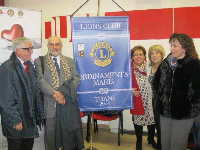 Il neo Club Lions-Il Past Gov. Elio Loiodice e consorte.