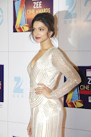 hot and sexy Deepika, Padukone, at, Zee, Cine, Awards, 2013, low neck dress, cleavage show,