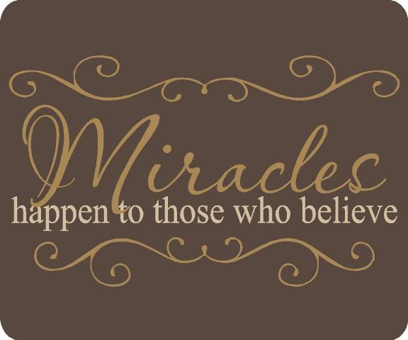 miracles do happen The most incredible thing about miracles, said g k chesterton, is that they happen and what happened to the young brazilian woman, maria jose oliveira paixao, is one of the few miracles.