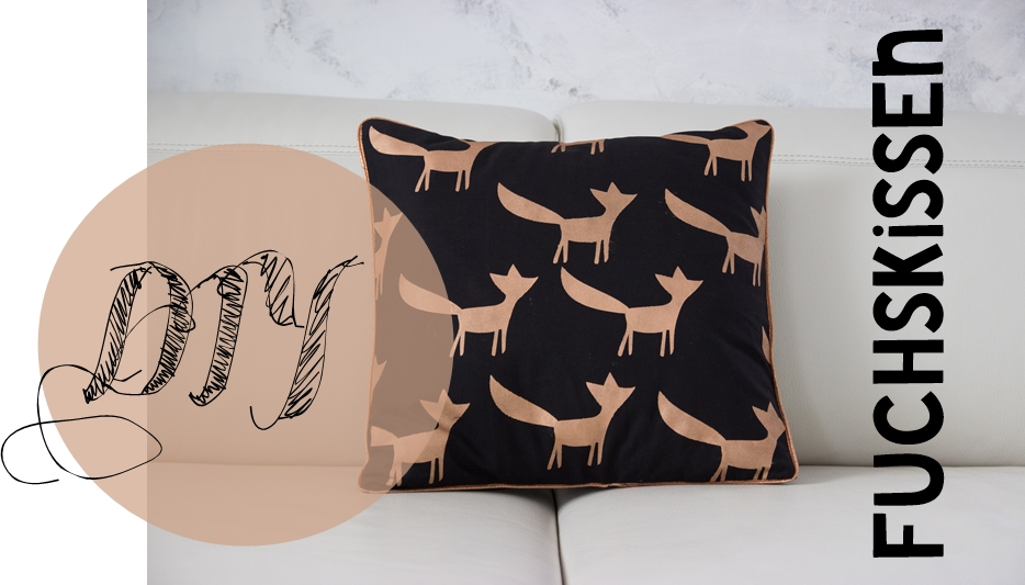 diy fuchskissen mit anleitung hotelverschluss creativlive. Black Bedroom Furniture Sets. Home Design Ideas