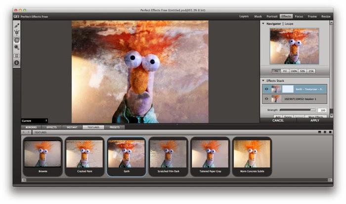 برنامج perfect effects لتعديل على الصور