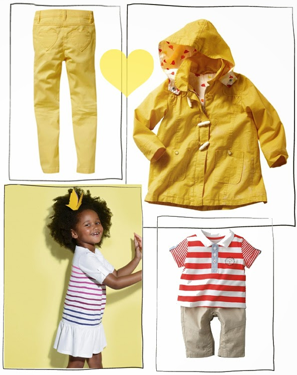 Vertbaudet Spring collection - yellow & stripes