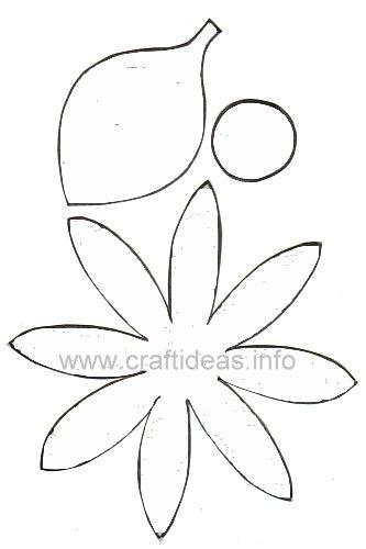Móbile de feltro para primavera - Moldes