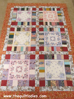 hankie quilt pieced together