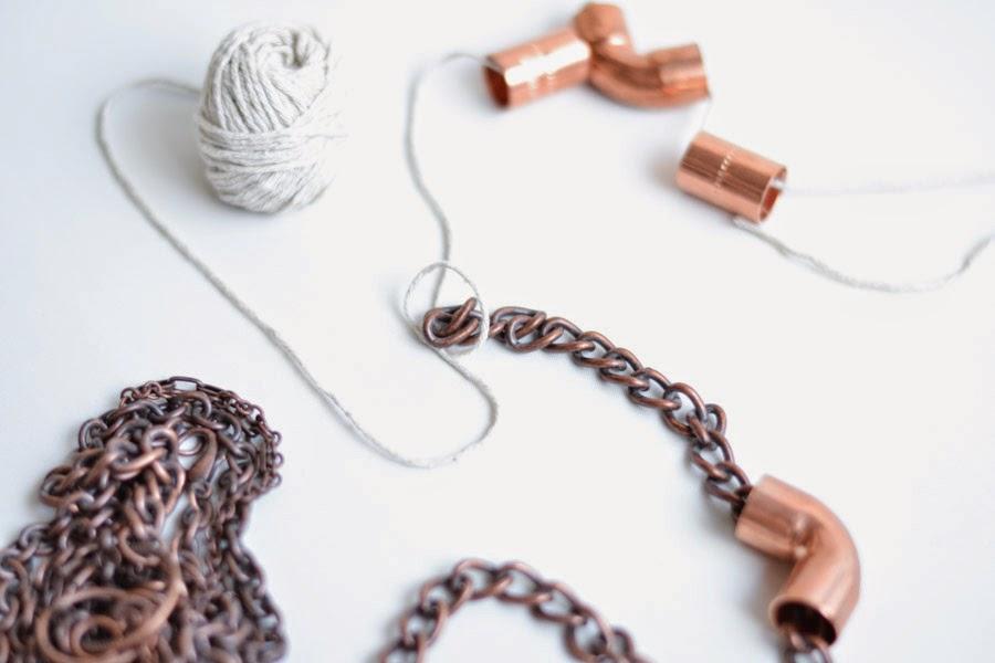 Haz tu collar con piezas diferentes {DIY}