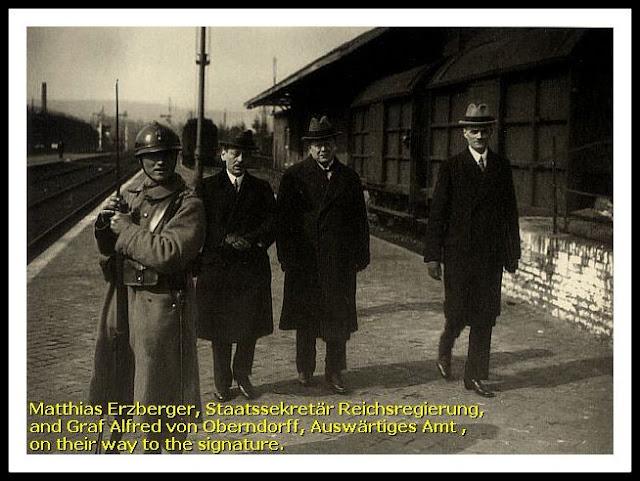 Matthias Erzberger rendicion alemana delegacion alemana