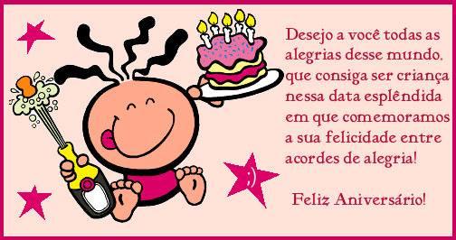 Desejo a você todas as alegrias desse mundo