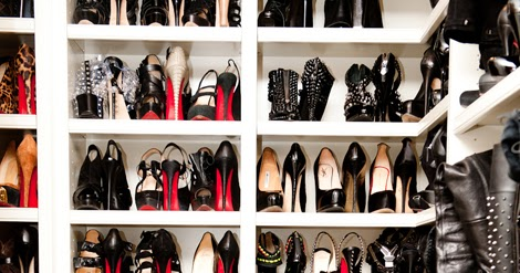 Paper Dollybird A Peek Inside Khloe Kardashians Shoe Closet