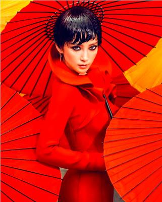 Li Bingbing glamorous red style VOGUE photoshoot
