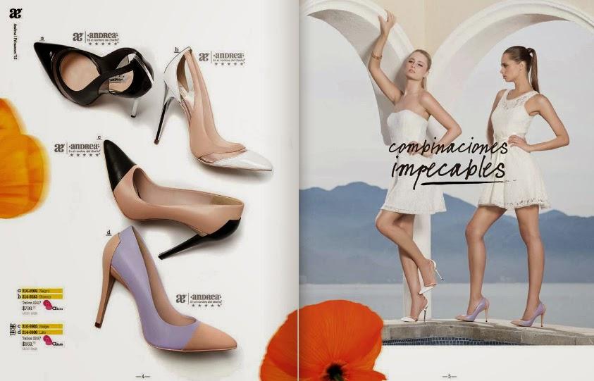Catalogo zapato Andrea cerrado primavera 2015