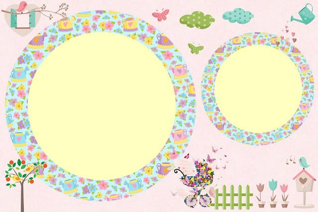 moldura para fotos tema jardim encantado : moldura para fotos tema jardim encantado:Convites para imprimir – Tema Jardim Encantado – Dicas pra Mamãe