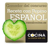 GANADORA EN CONCURSO RECETAS CON PEPINO ESPAÑOL DE CANAL COCINA