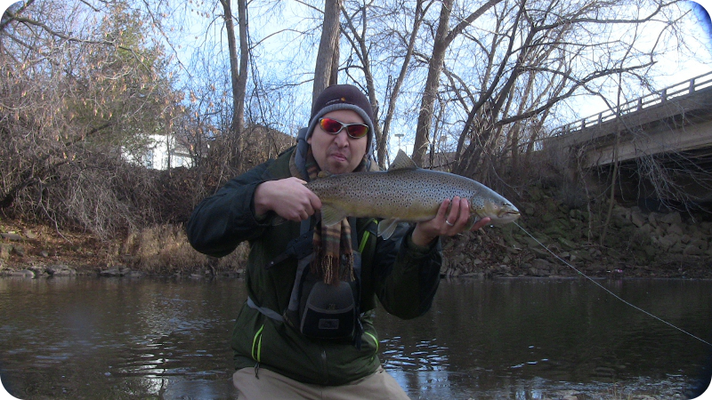 Illinois wisconsin fishing mid winter on the root river for Winter trout fishing