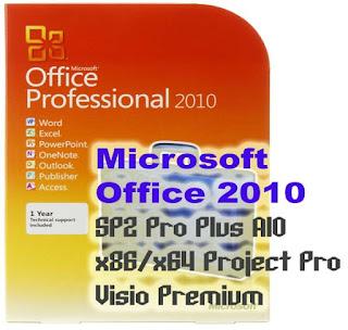 Microsoft Office 2010 SP2 Pro Plus AIO x86/x64 Project Pro Visio Premium Terbaru