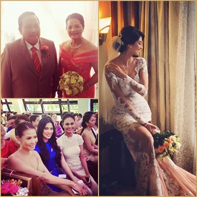 The bride, her parents and fellow queens Ara, Venus and Bianca