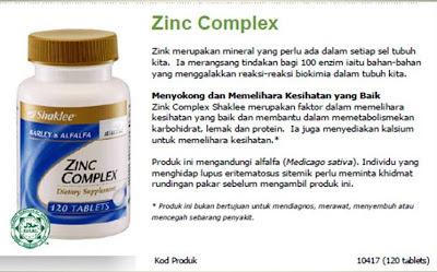 zink complex shaklee