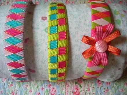 Mamá de una niña pequeña!!!!: Vinchas tejidas con cintas - ideales ...