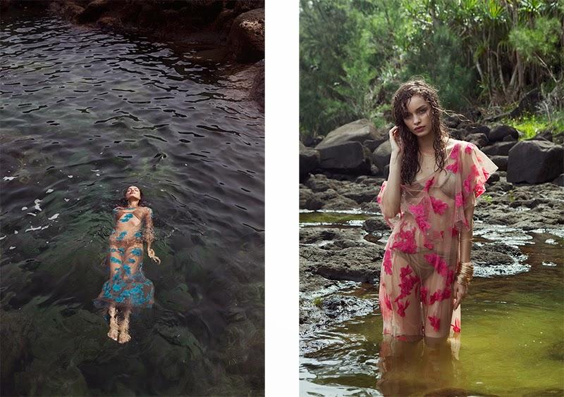 For Love & Lemons, Spring 2015, Pacific Getaway lookbook, Hawaii, holiday, tropical, sheer, lace, appliqué