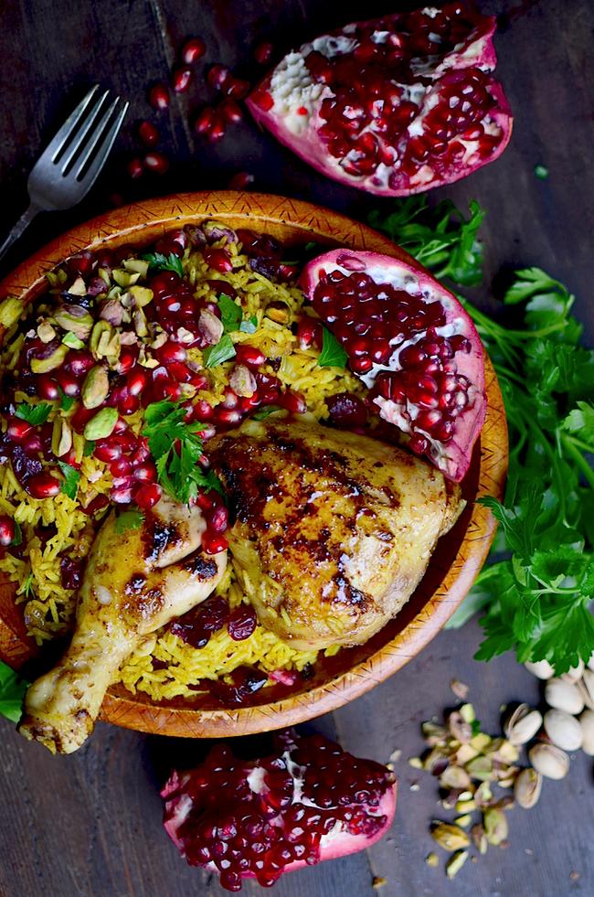 Yammies Noshery Persian Honey Glazed Chicken And Jeweled Rice