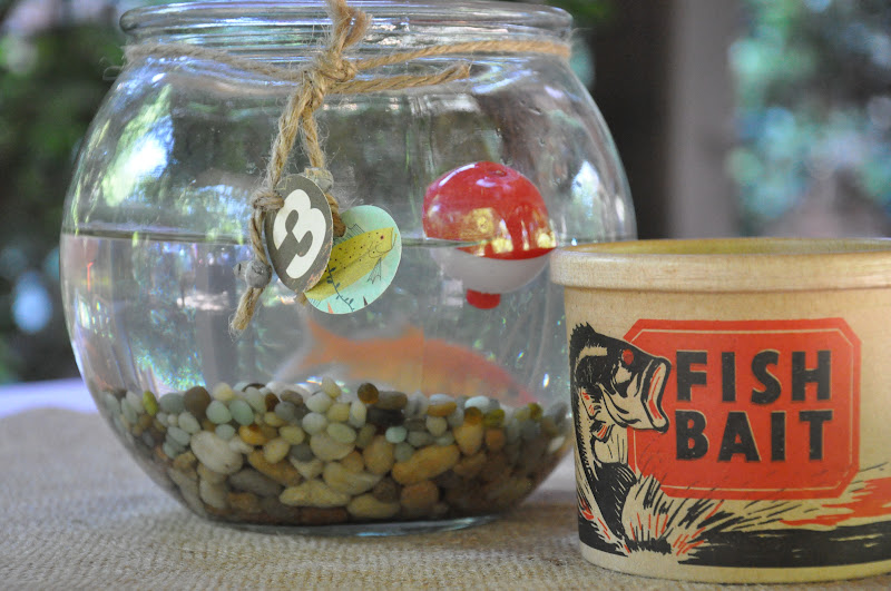 The little nook a fishing hole birthday celebration for Fishing themed party supplies