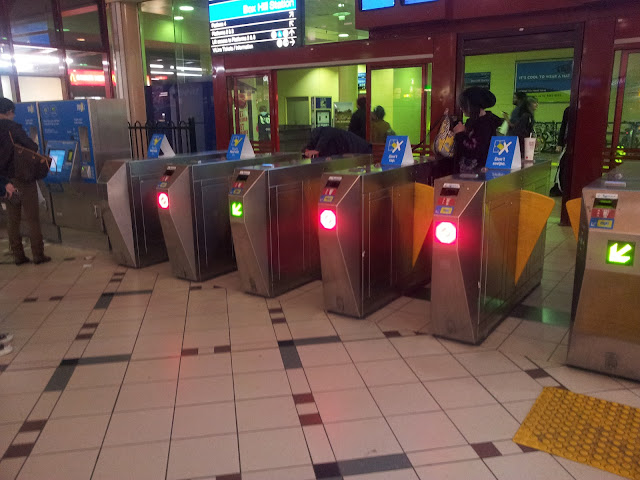 Metcard barriers, repurposed for Myki