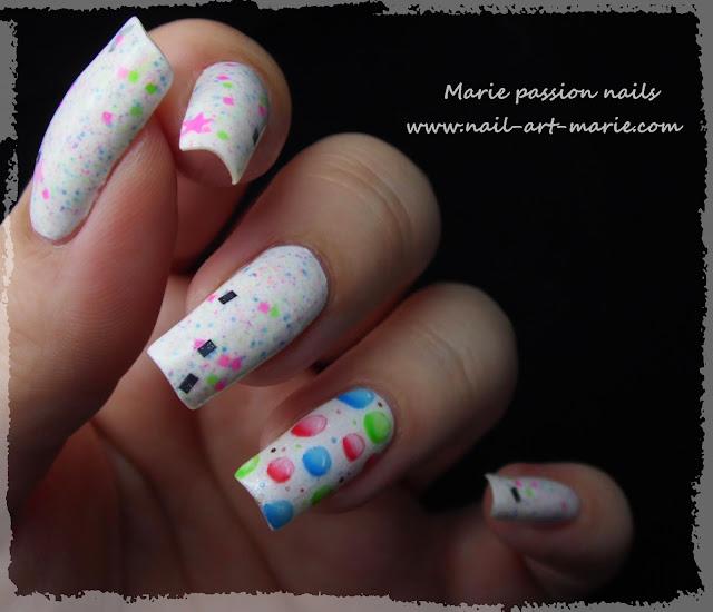 Nail Art Bulles d' aquarelle3
