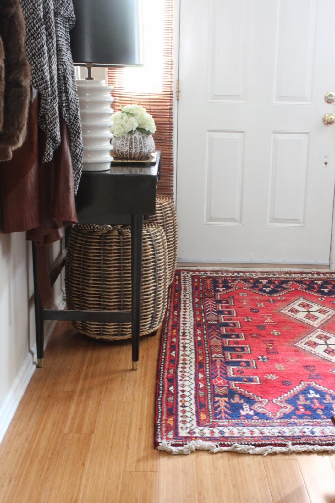 spicing up my entryway with a persian rug dayka robinson. Black Bedroom Furniture Sets. Home Design Ideas