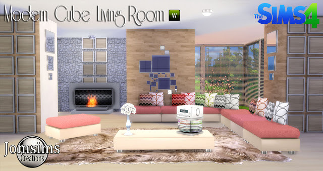 Modern Cube Living Room Set By JomSims