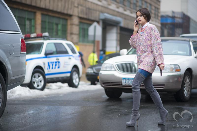mitograph Miroslava Duma New York Fashion Week 2013 2014 Fall Winter NYFW Street Style Shimpei Mito