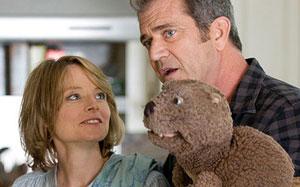 Jodie Foster y Mel Gibson en El castor