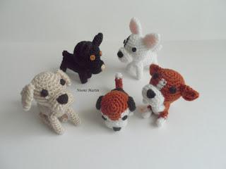 Amigurumis Perros Paso A Paso : Agujas telas lanas tijeras ¡¡a crear!!: mis perritos amigurumi