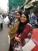 Beulah and Nalini resting