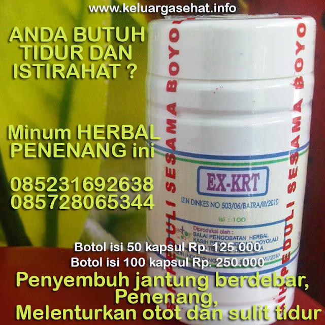 Herbal Penenang Syaraf 085231692638 atau 085728065344 atau 085728503421 KRT keluargasehat