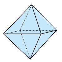 Abb. 3: Oktaeder (8 Seiten) aus Dreiecken