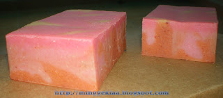 Strawberry Turmeric Cold Processed Handmade Soap