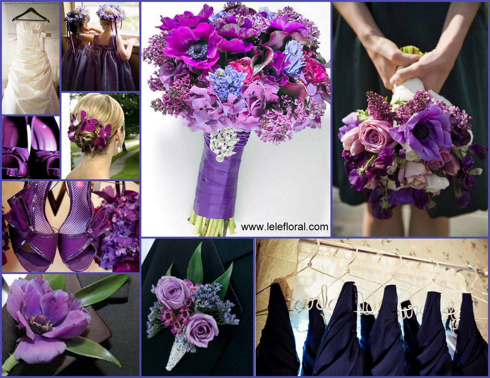 lele floral blue purple wedding
